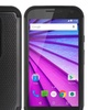 Motorola Moto G (2015) (Moto G 3Rd Gen) Grippy Hybrid Case Black Tpu Black Pc