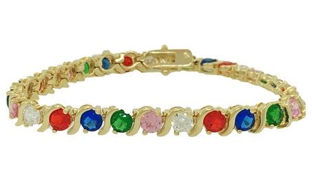 Gold Filled Tennis Bracelet with CZ stones 2aabe079-3a26-4b8e-b32f-e27ca19688b2