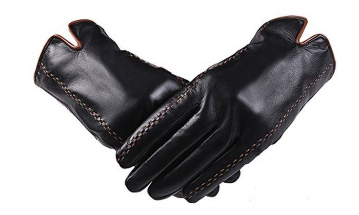 Men's Classic Fashion Soft Nappa Goat Leather Driving Gloves