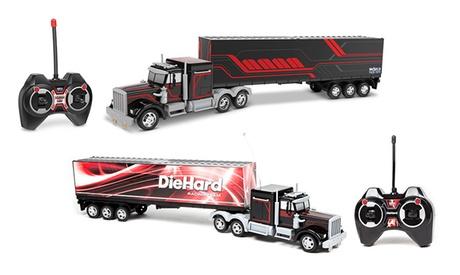 Mega Rig Electric RC Semi Trailer Truck - with Detachable Trailer