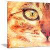 Feline Stare- Animal Metal Wall Art 28x12