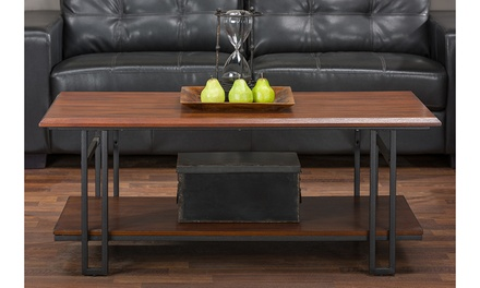 Baxton Studio Newcastle Wood and Metal Living Room Tables