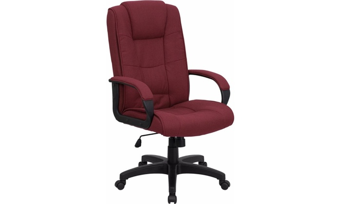 flash furniture high back burgundy fabric executive office chair