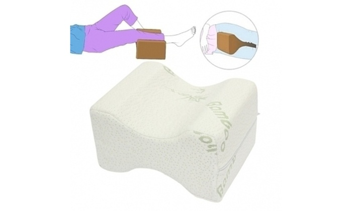 Up To 70 Off On Memory Foam Knee Pillow Groupon Goods
