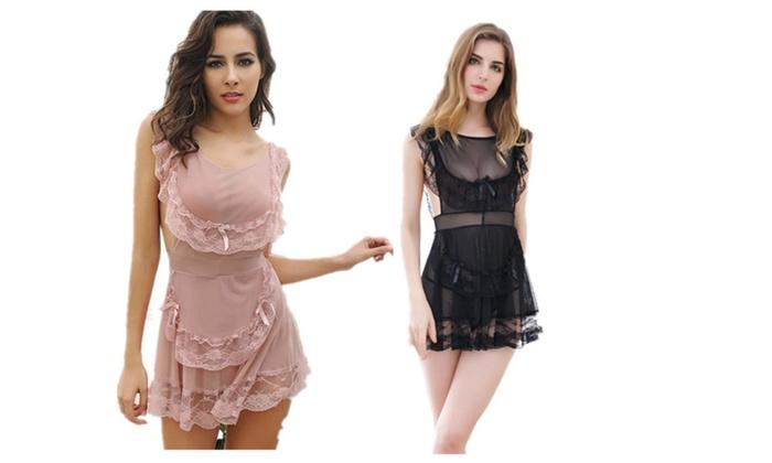 Women sexy french maid lingerie nightwear entice costume sleepwear solutioingenieria Gallery