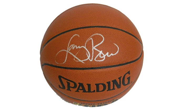 Larry Bird Signed Spalding Indoor/Outdoor Basketball