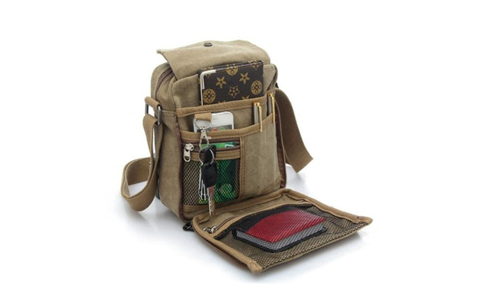 Multifunction Canvas Travel Shoulder Crossbody Bags