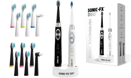 Sonic-FX Duo Electric Toothbrushes with 14 Brush Heads