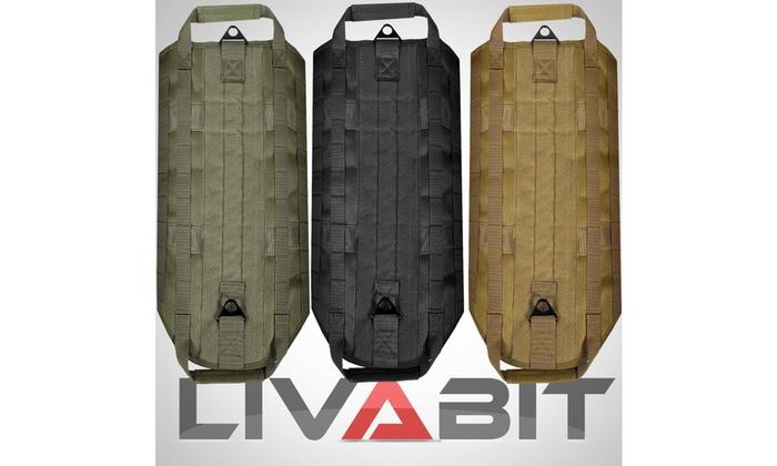 LIVABIT Black Police K9 Dog Tactical Molle Vest Harness Leash Small