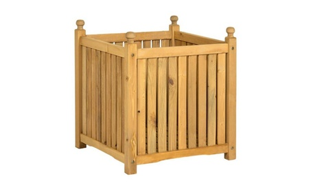 Square Wooden Planter Box 660a829d-4e9a-4373-a91e-7da3434c802e