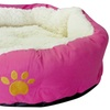 """Evelots Round Pet Bed,Cats & Dogs 17""""D x 5""""H, Assorted"""