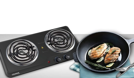 Courant Single- Twin Electric Burner Countertop Hotplate Cooktop photo