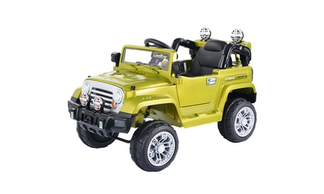12V MP3 Kids Ride On Truck Jeep Car RC Remote Control w/ LED Lights Music
