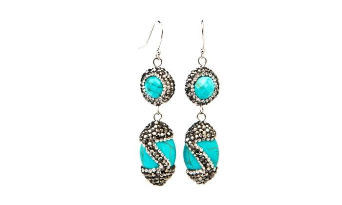 Designer Isis Turquoise Earrings