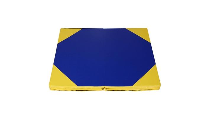 "Thompson City: 4'x10'x2"" Gymnastics Mat Thick Folding Panel Gym Fitness Exercise"