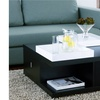 Furniture of America Lucas Black Square Coffee Table w/ Serving Trays