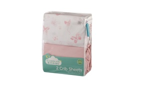 Organic Cotton Crib Fitted Sheet (2-Pack)