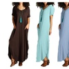 Shoppe247 Oversized Relaxed-Fit Maxi Dress with Pockets
