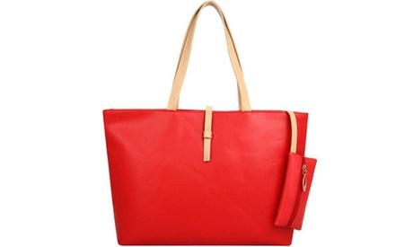 Women Large Leather Satchel Purse Handbag Shoulder Crossbody Bag Tote (Goods Women's Fashion Accessories Handbags Totes) photo