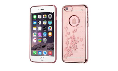 Rose Gold Pattern Ultra Thin Clear Rubber TPU Soft Case for iPhone...