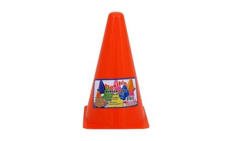 """9.5""""H Plastic Orange Sports Cone 25563deb-880e-4487-9f65-27303748daf6"""