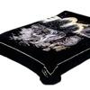 Solaron Wolf Pack Mink Blanket