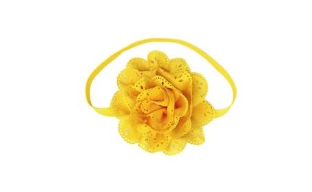 American Style Flower Mesh Elastic Hairband For Kids 775b46f7-1f92-43cd-a162-004f1dd27b95