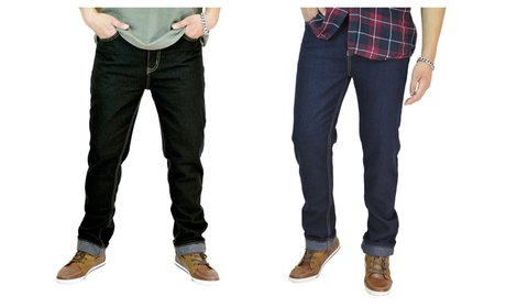Men's Classic Straight Fit Denim Jeans