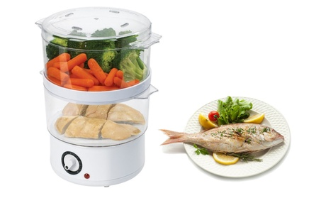Compact Design Electric Kitchen Food Steamer Automatic 60Minute Timer photo