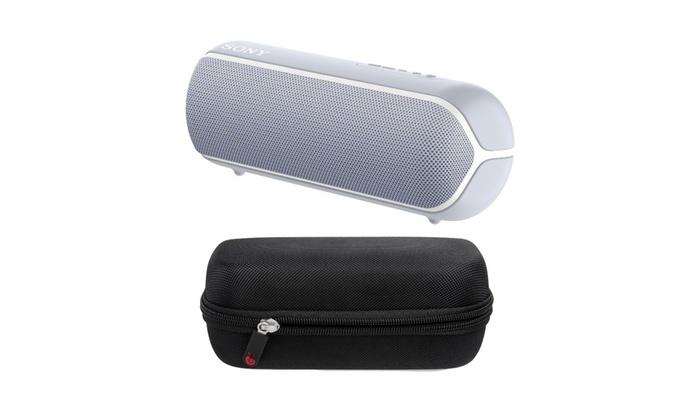 Sony Srs Xb22 Extra Bass Portable Bluetooth Speaker Gray Bundle Groupon