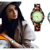 Fashionable Floral Print And Vintage Design Ladies Fashion Watch