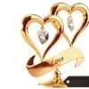 Charming temptations 24k gold plated double heart ornament with matashi crystals