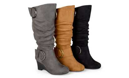 cc7b98b2030 Shop Groupon Journee Collection Womens Extra Wide Calf Wedge Boot