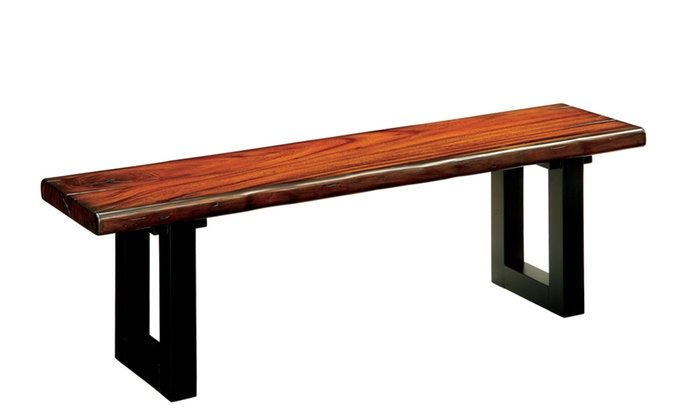 Lager Rustic Tobacco Oak Dining Bench ...