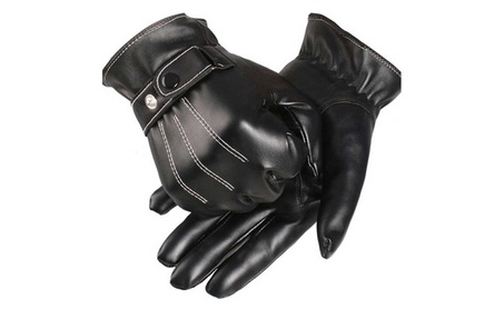 Leather Gloves Full Finger Motorcycle Driving Winter Warm Touch Screen 9b488fcf-5e51-4329-b898-312d3195819e