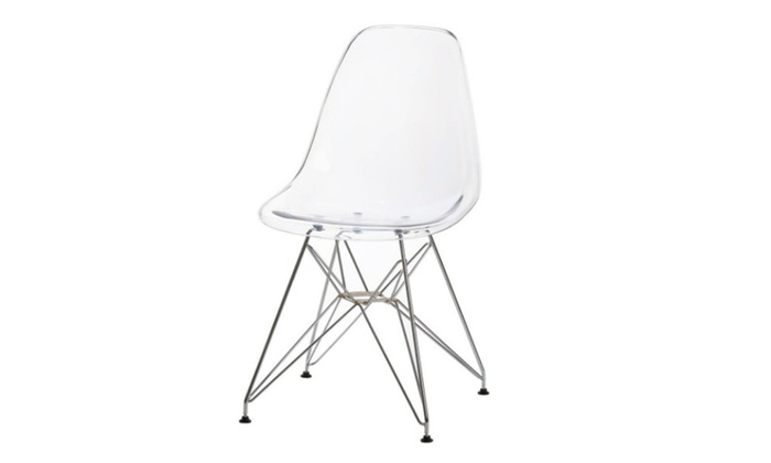 Clear Acrylic Eames Style Side Chair