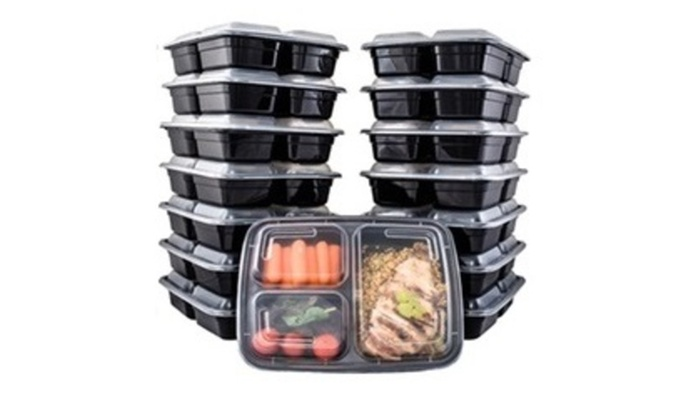 14 Pc Reusable Food Storage Containers Meal Prep Fitness with lids
