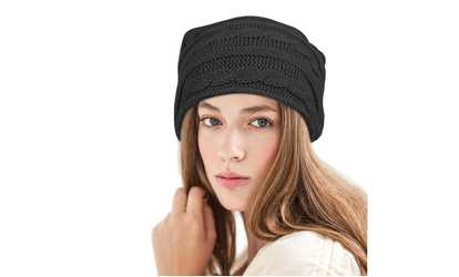 db507d501ba Shop Groupon Zodaca Women Fashion Slouchy Patterned Beanie Stretchy Warm Knit  Hat