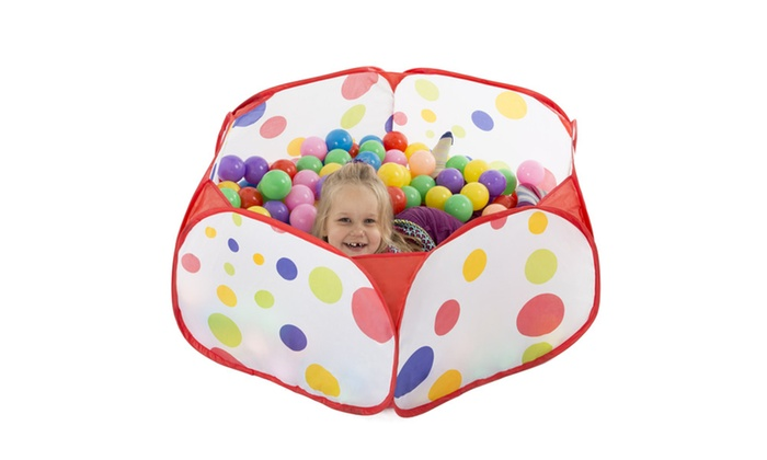 ... Groupon Goods Kids Pop-up Six-sided Ball Pit Tent with 200 Colorful  sc 1 st  Groupon & Kids Pop-up Six-sided Ball Pit Tent with 200 Colorful and Soft ...