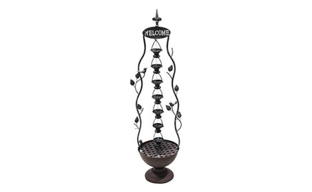 Alpine Maz256 41 In. 7 Hanging Cup Tier Layered Floor Fountain 1f3a3c86-4237-4591-b046-0311ee209100