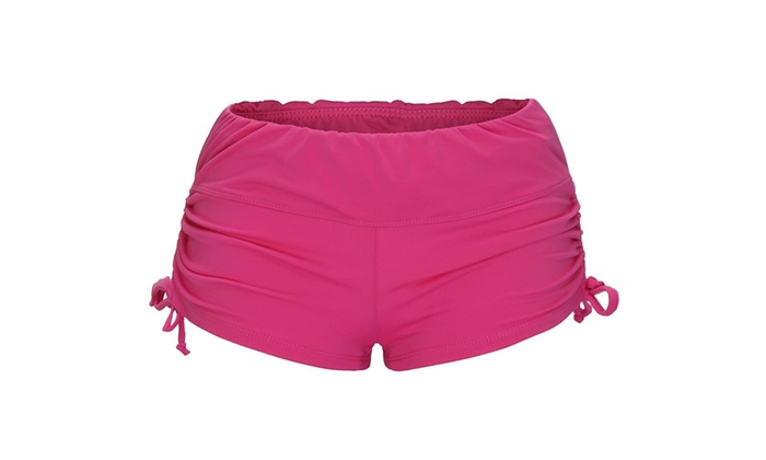 Women's Swim Brief with Adjustable Ties, Mini Short Swimwear