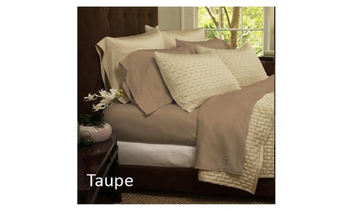 ... 4 Piece Set: Super Soft Premium Bamboo Fiber Bed Sheets