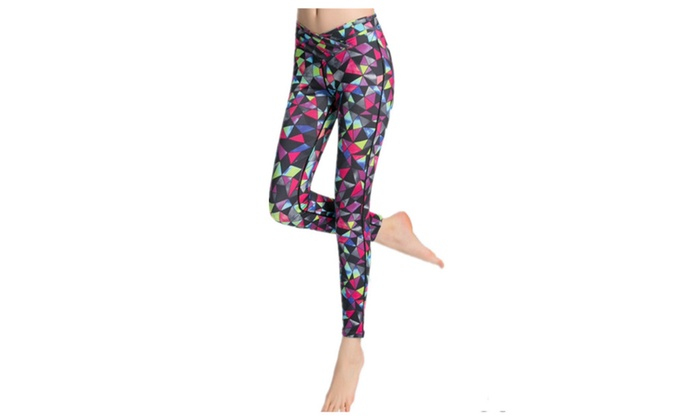 Printing Long Exercise Sports Tight Yoga Pants Trousers for Women