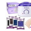 Rapid Melt Hair Removal Waxing Kit Electric Hot Wax Warmer, 4 flavors