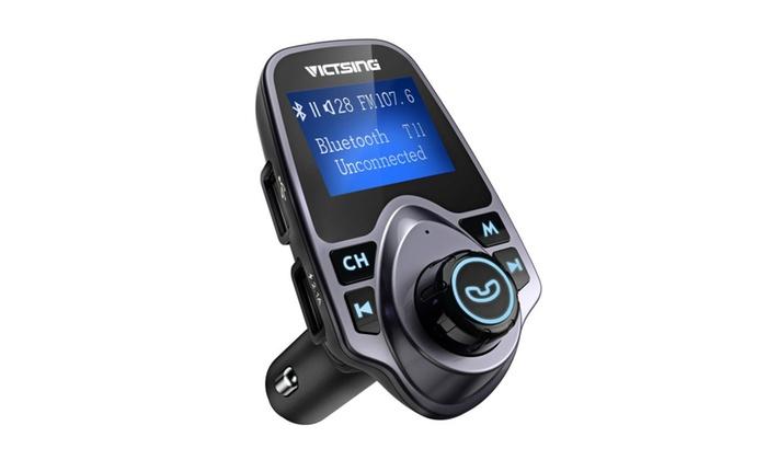 VicTsing FM Transmitter, Bluetooth FM Transmitter Radio Adapter