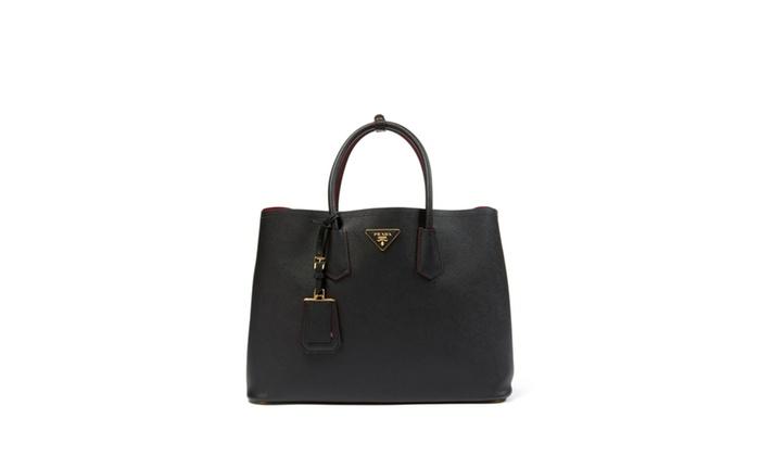 www prada com bags - PRADA Medium Saffiano Cuir Leather Tote | Groupon
