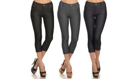 Ladies Capri Jeggings (3Pack) With 2 Free Capri Leggings c6decd1b-59be-4ce1-9d82-8287d1ce3bb1
