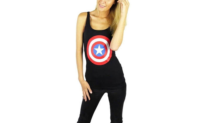 7e40b5f4550b4 Up To 42% Off on Marvel Womens Captain America...