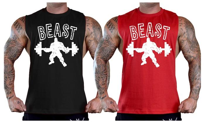 Men's Beast Bodybuilding T-Shirt Tank Top