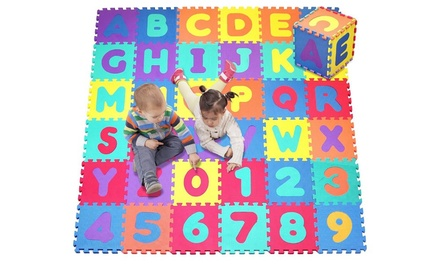 Foam Alphabet and Numbers Puzzle Play Mat, 36 Tiles